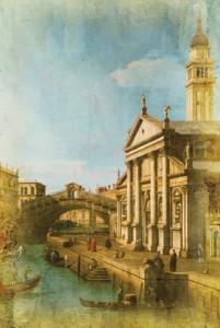 Capriccio: The Rialto Bridge and the Church of S. Giorgio Maggiore by Canaletto
