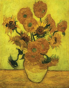 <Sunflowers> by Vincent Van Gogh