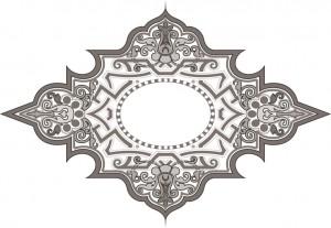 Черно-белый декор